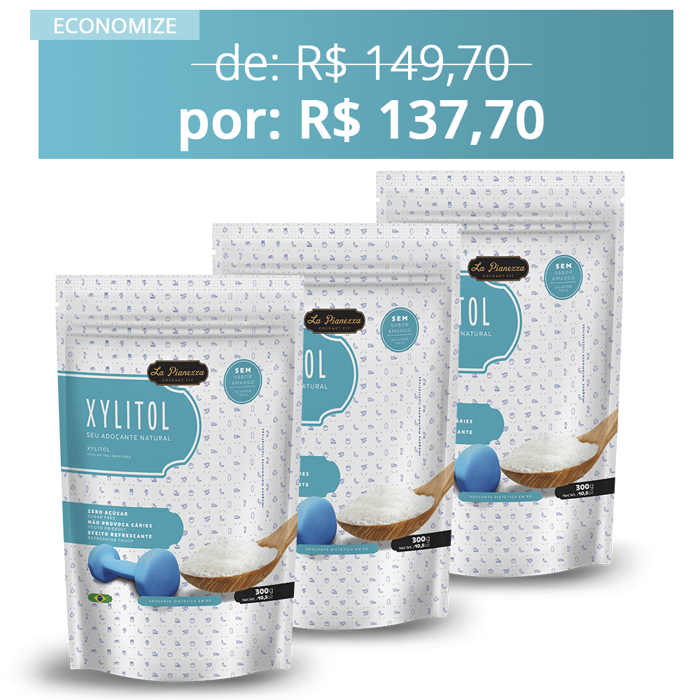3x Combo Adoçante Xylitol