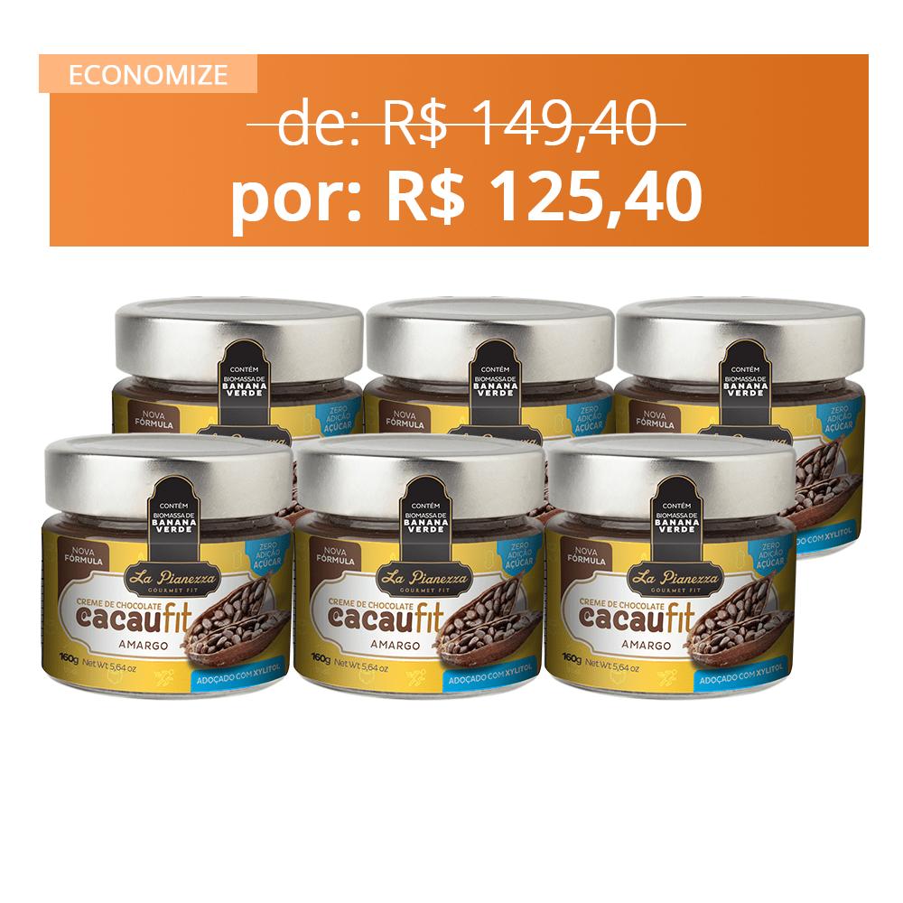6x Combo Creme de Chocolate Cacaufit Amargo