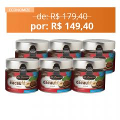 6X COMBO CREME DE CHOCOLATE CACAUFIT AVELÃ